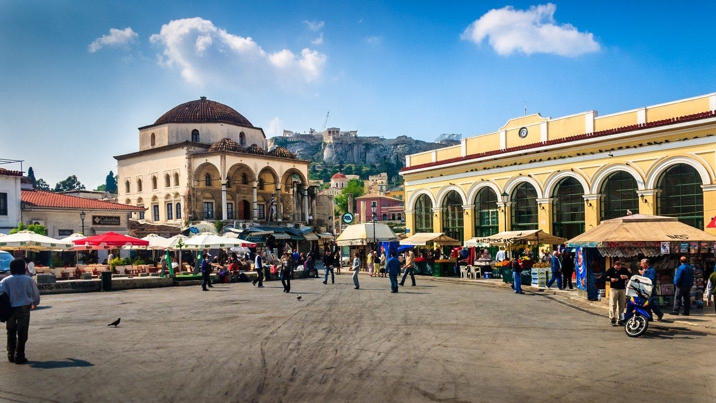 Viaje a Atenas - Plaza monastiraki