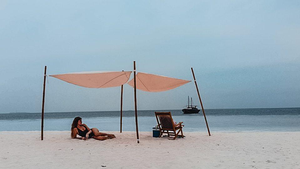Bancos de arena Atolon del sur - Viajar a Maldivas barato