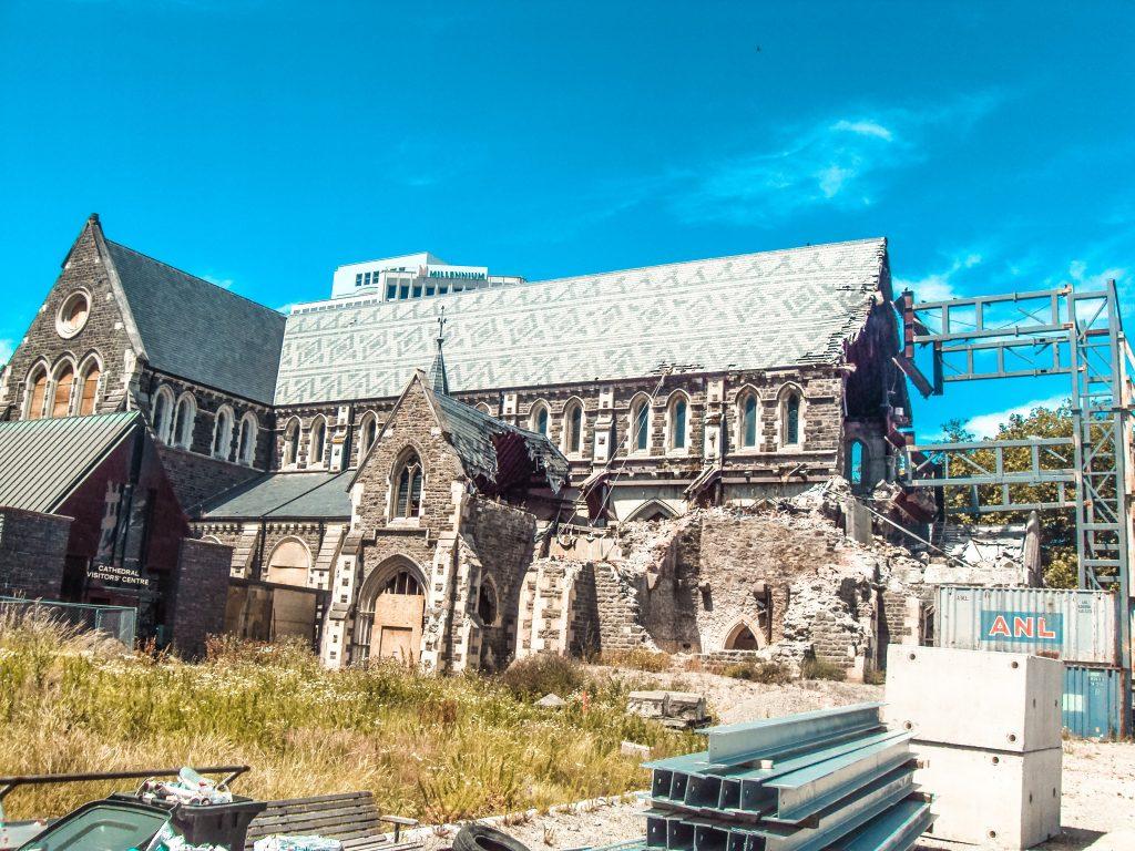 Christchurch después del terremoto - sur de nueva zelanda