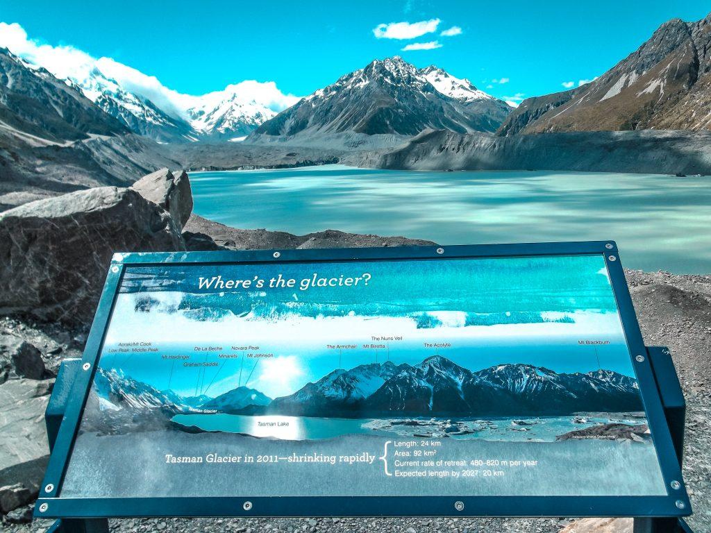 Glaciar Tasman - sur de nueva zelanda