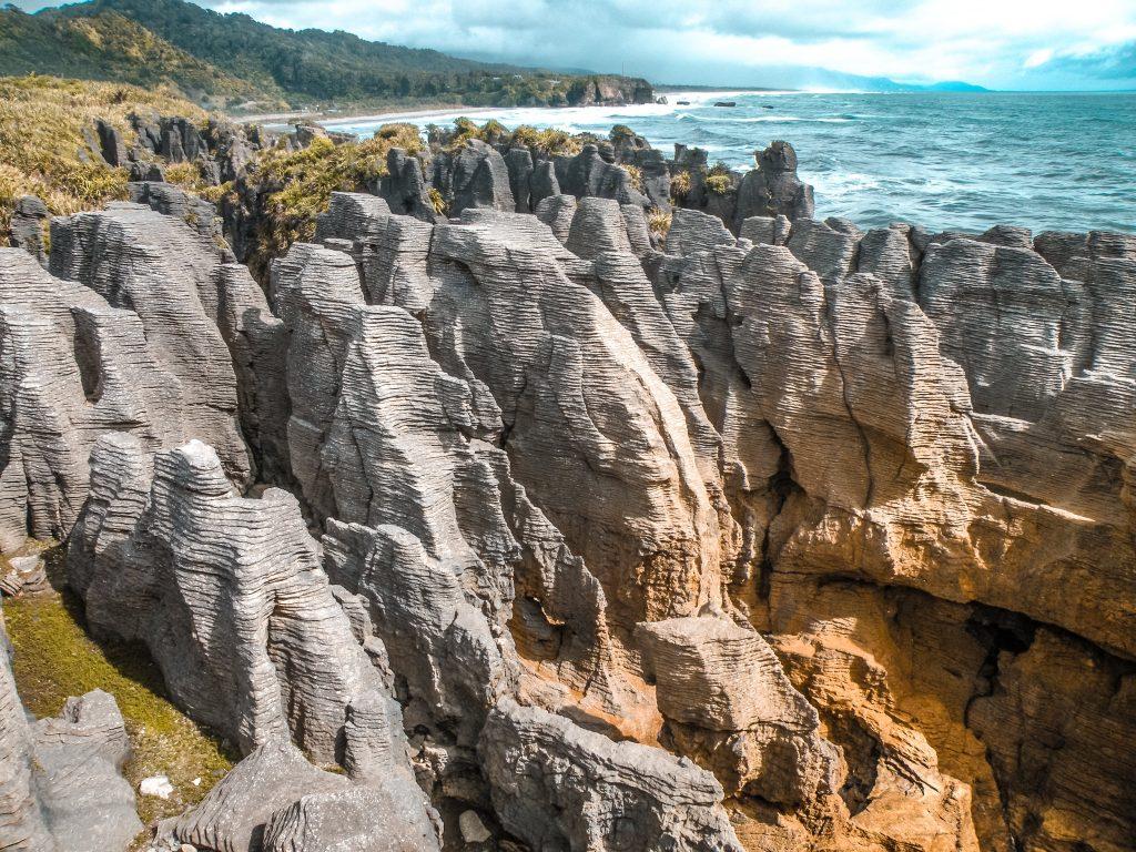 Pancake rocks - isla sur de nueva zelanda