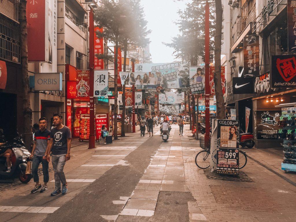calle peatonal de Ximen - que ver en taipei