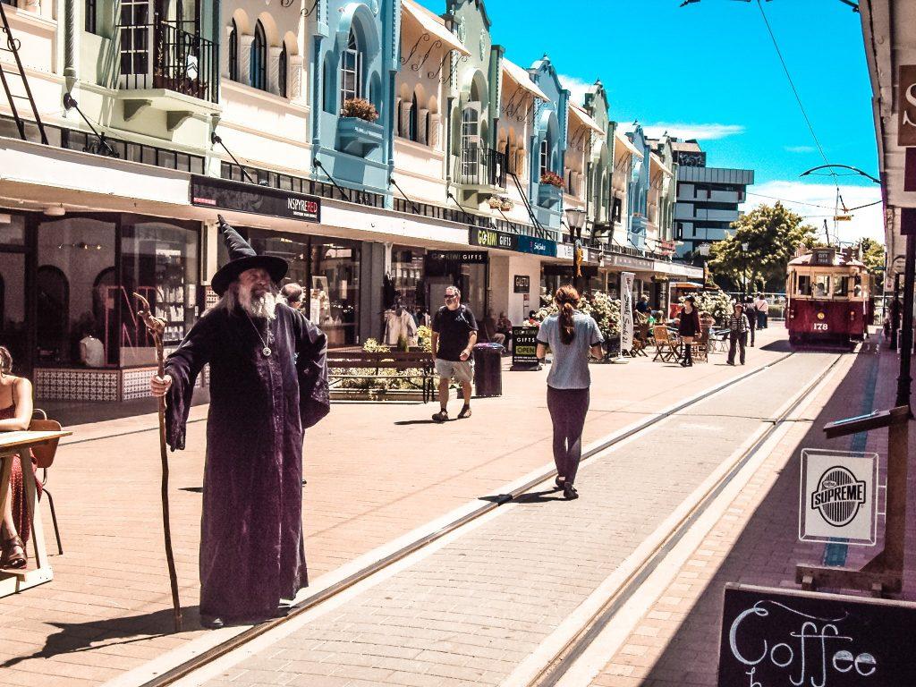 calles de Christchurch - Nueva Zelanda isla del sur
