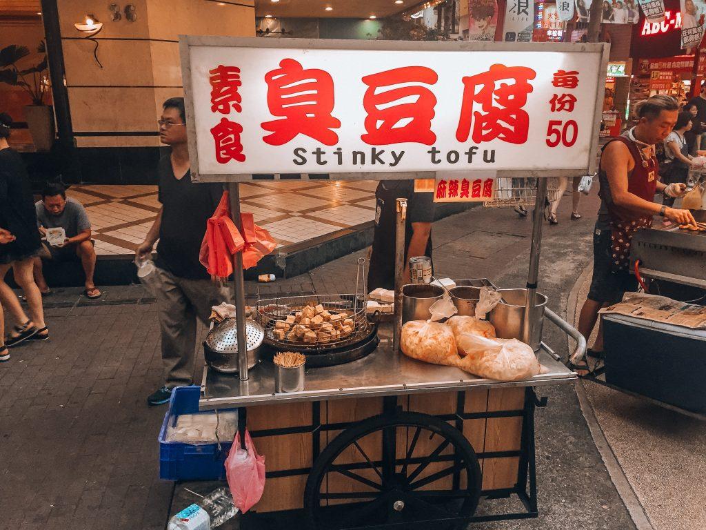 puesto callejero de tofu apestoso