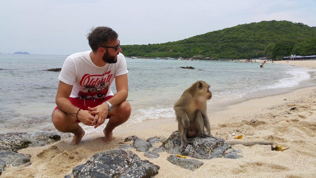 playa de los monos de koh larn