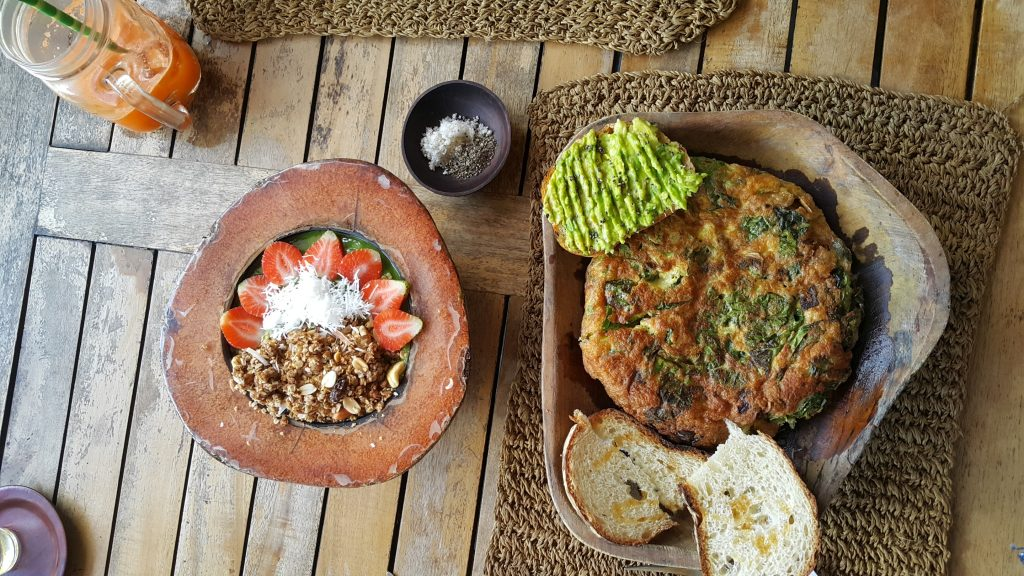 Comidas ricas tropicales de Canggu